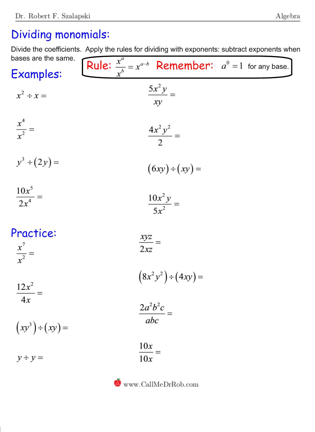 Monomials - page 5
